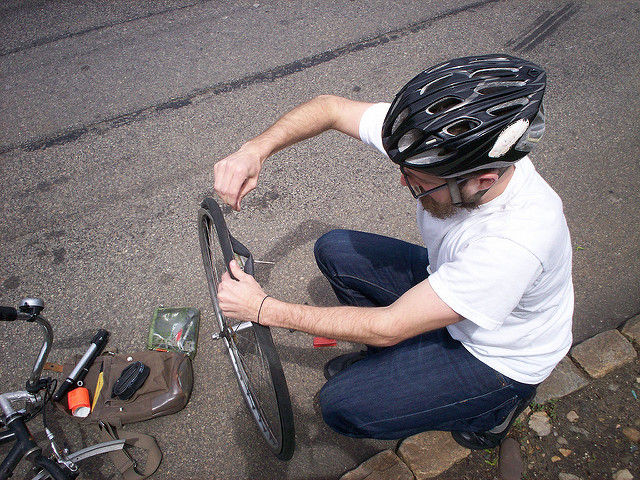 Fixing Bicycle Puncture